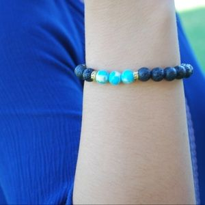 Jewelry - Turquoise and Lava Stone Diffuser Bracelet